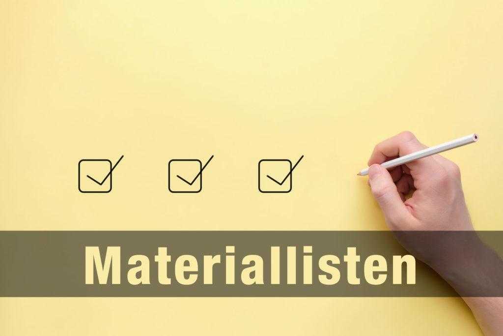 Materiallisten